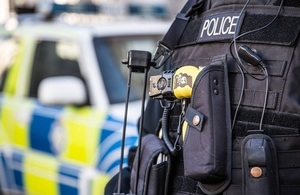 Photo of a police officer's body armour