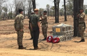 The Duke of Sussex met British Army personnel deployed to Malawi and paid tribute to Guardsman Talbot, who sadly died there earlier this year