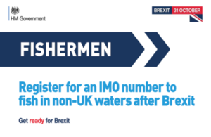 Register for an IMO number to fish in non-UK waters after Brexit