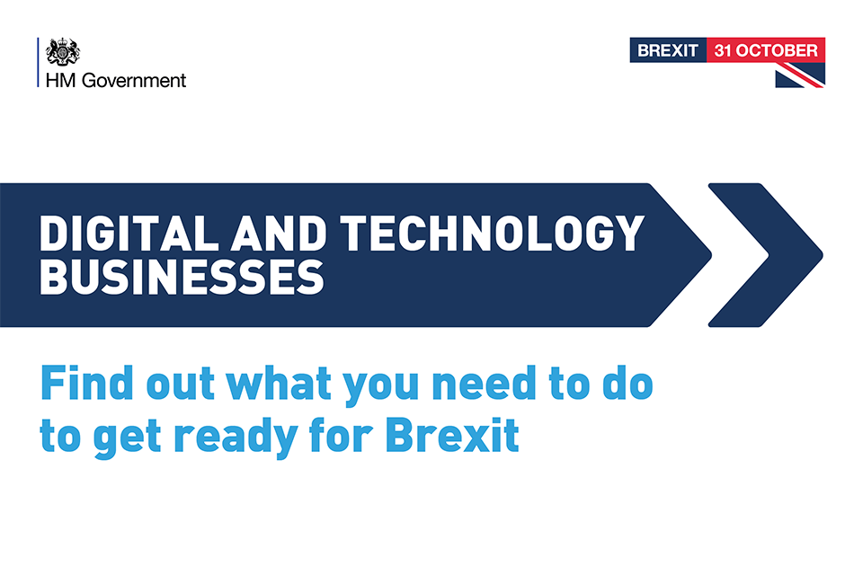 Brexit graphic for digital and tech businesses
