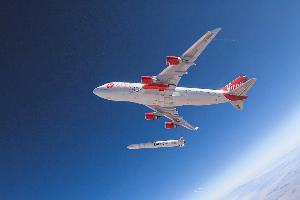 Virgin Orbit aircraft and launch vehicle