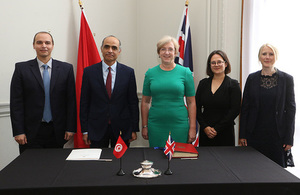 The British Ambassador to Tunisia Louise De Sousa, with the Tunisian Ambassador to the United Kingdom Nabil Ben Khedher.