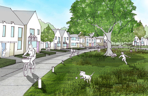 Artist impression of new site