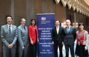 British Embassy Bangkok hosts a workshop on Rape and Sexual Assault Survivor Handling to Thai partners