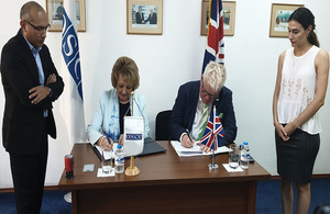 British Embassy and OSCE signed MoU