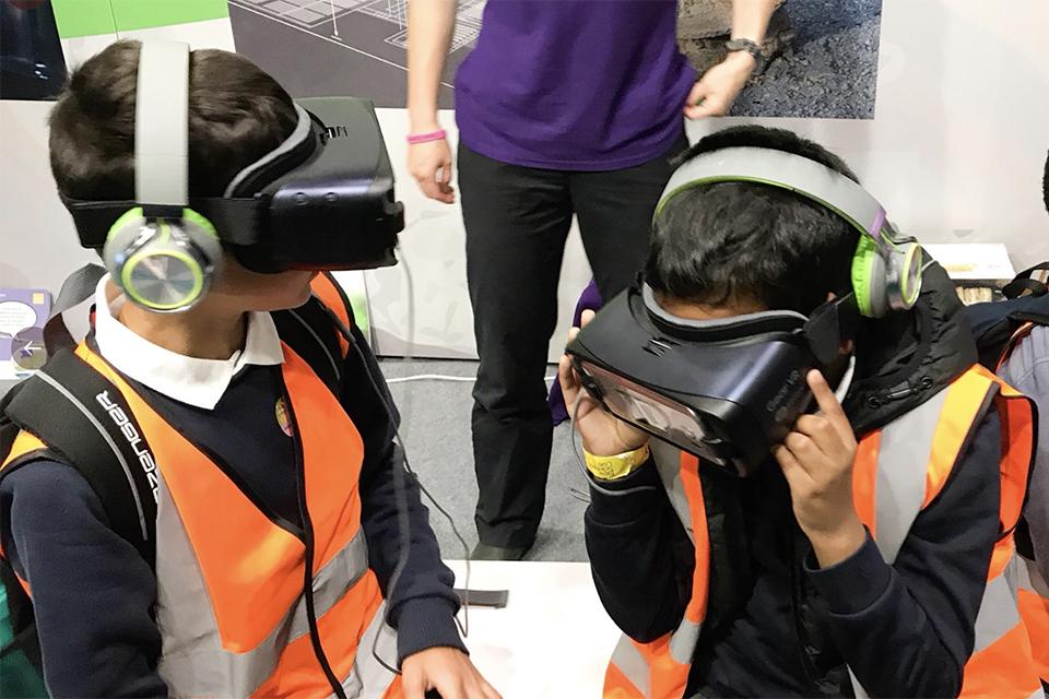 Schoolboys enjoy a virtual trip into a Geological Disposal Facility (GDF)