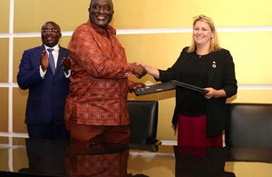 Baroness Sugg meets with Ghanaian cabinet ministers in Accra