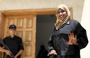 Hafsa Hussein, a new police recruit in Libya