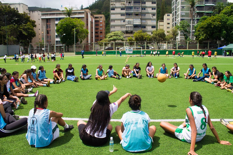 About 160 young female Venezuelan athletes from low-income communities are participating in the project