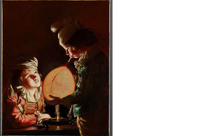 Joseph Wright of Derby - Two Boys with a Bladder