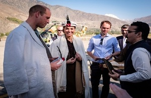 Their Royal Highnesses (TRH) the Duke and Duchess of Cambridge on a visit to Pakistan's mountainous Chitral District.