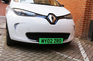 DfT launch consultation on green car number plates