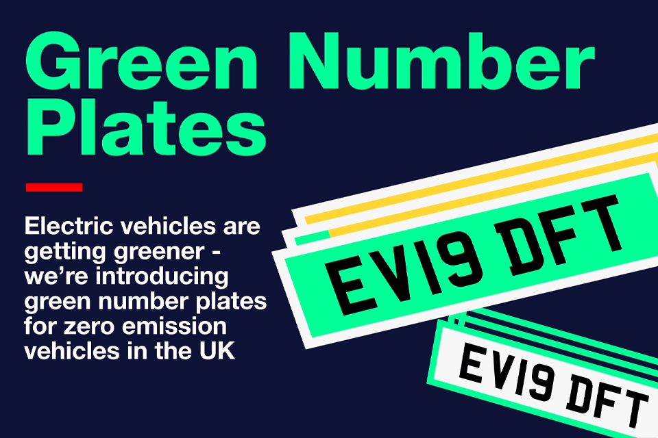Picture of green number plates information advertisement.