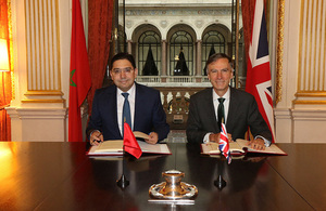 Minister of State for the Middle East and North Africa, Dr Andrew Murrison and Moroccan Foreign Minister, Nasser Bourita.