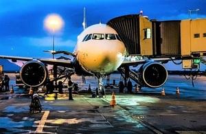 A parked aircraft