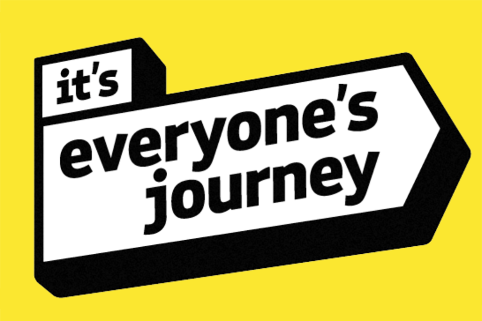 Logo of the it's everyone's journey campaign