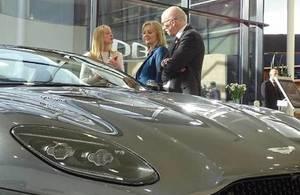 Liz Truss at Aston Martin Lagonda