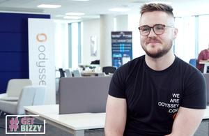 Dominic Bonaker, the CEO of web design agency Odyssey Ltd.