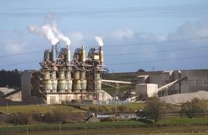 Cement factory in Cumbria UK