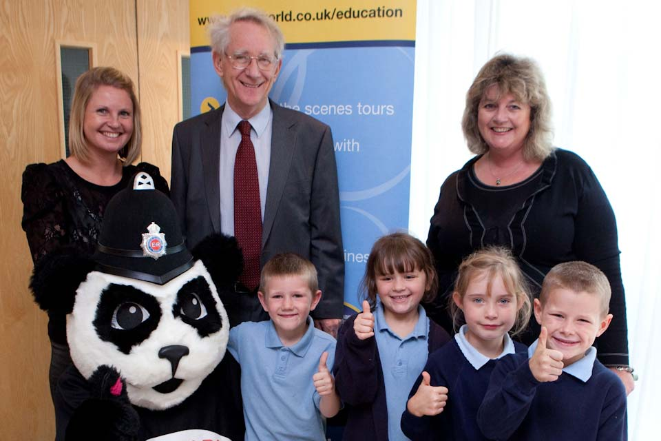 Andrew Stunell with local school children