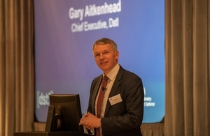 Chief Executive Gary Aitkenhead, presenting at 2019 CWD conference