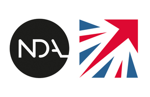 Nuclear Decommissioning Authority (NDA) and UK Space Agency Logos