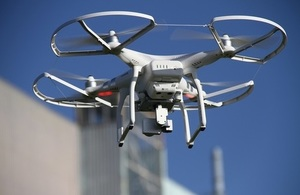 A drone in action at Winfrith site