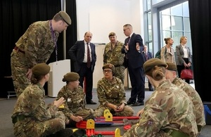 Defence Secretary Ben Wallace visits a cadet unit in Greater Manchester
