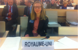 Sofia Suvila from the Political Section in Geneva
