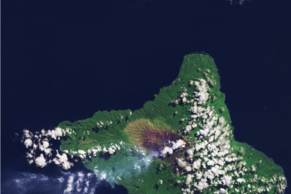 Satellite image of Vanuatu
