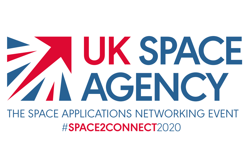 UK Space Agency and #Space2Connect logo
