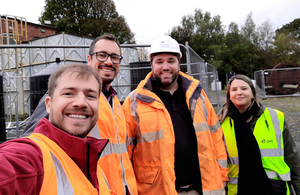The team from Brazil taking a closer look at the innovation projects the Coal Authority is trialling at the National Coal Mining Museum for England.