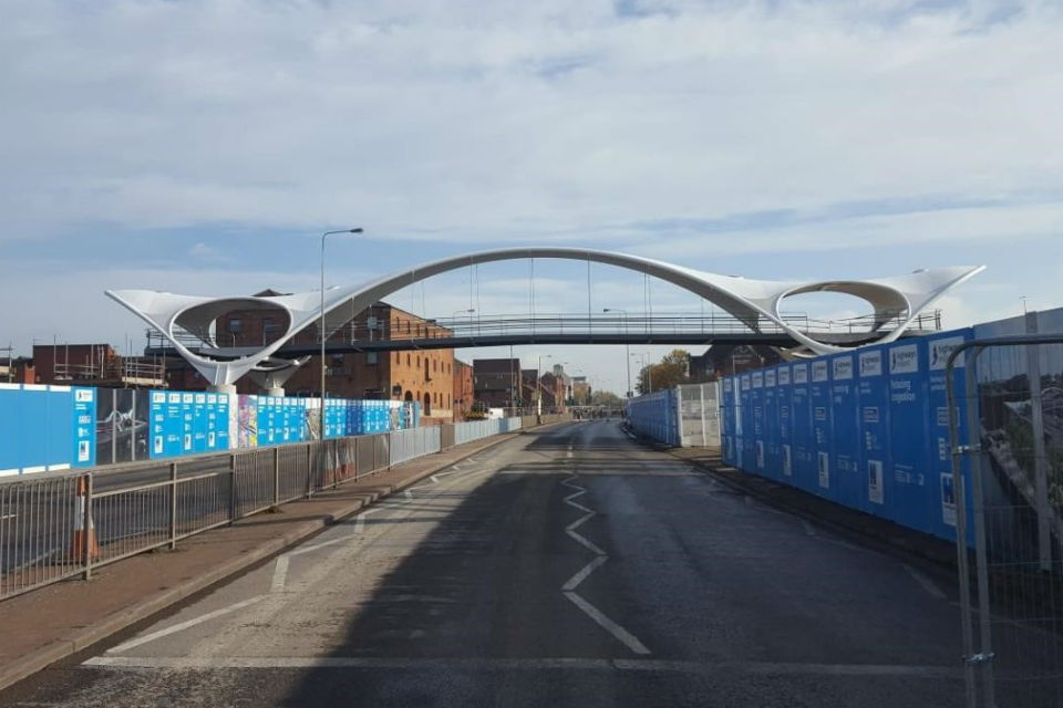 The new bridge from the A63