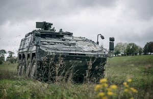 Boxer armoured vehicle at Army Combat Power Demonstration 2019