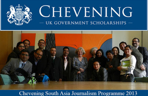 14 South Asian journalists arrive in London to attend the Chevening South Asia Journalism Programme