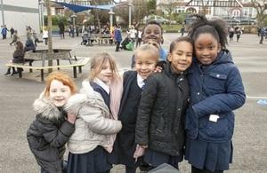 Children in playground.