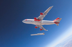 Virgin Orbit aircraft and launch vehicle.