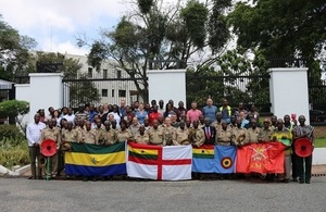 Group photo of Ghanaian veterans with Staff of the British High Commission in Accra, Ghana.