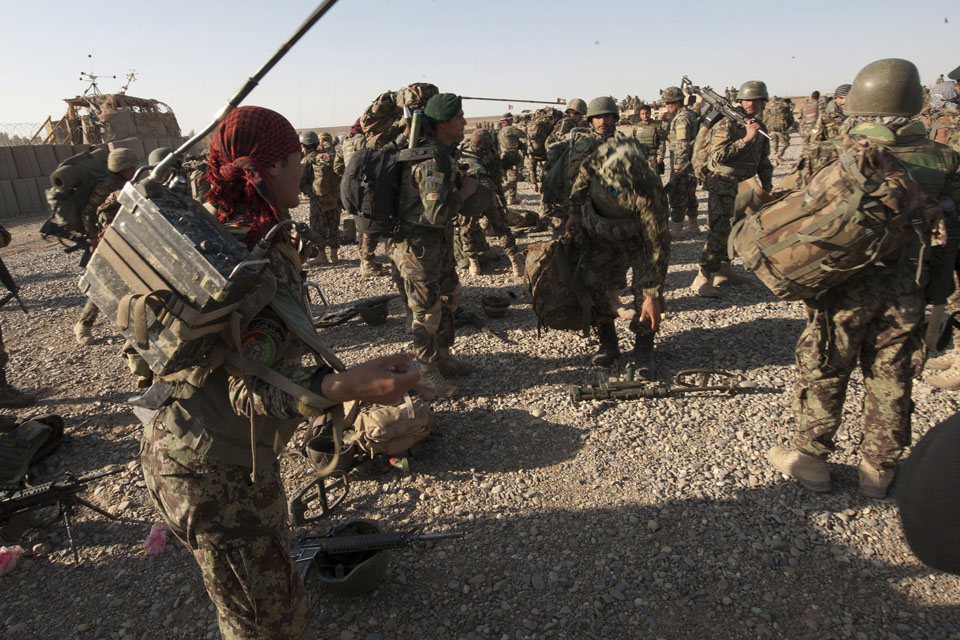 Afghan soldiers prepare to deploy on Operation Tuffan