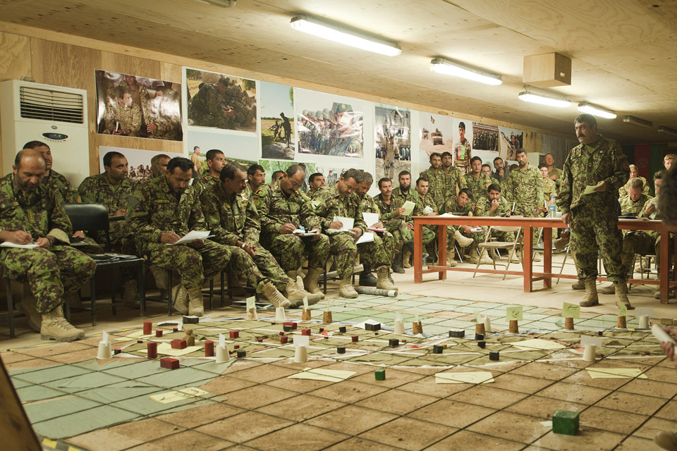 Planning group for a major Afghan-led operation