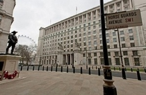 stock image of outside Ministry of Defence main building.