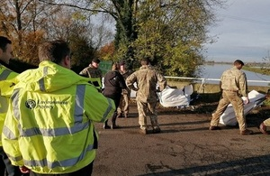 EA teams out on the ground in South Yorkshire alongside army personnel.