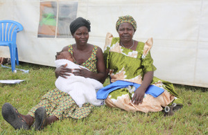Jennifer Lakot with her mother and baby. Picture: Lillian Akot/ DFID