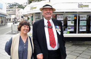John and Doreen at the final parade of the ex-junior leaders, Royal Corps of Signals held at Newton Abbot 8 September 2017.