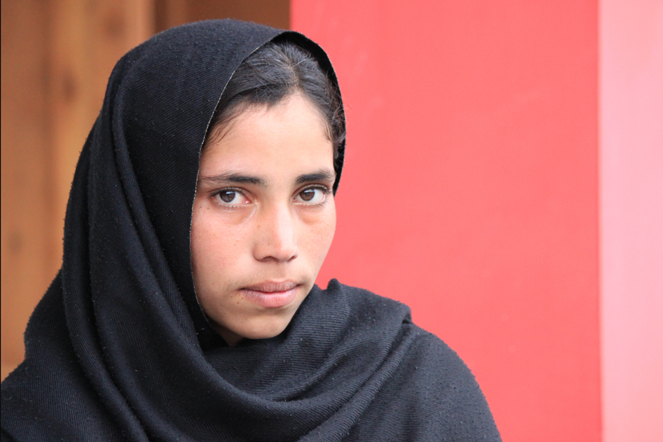 Naseema, 13, lost her mother in the earthquake. Picture: Victoria Francis/DFID