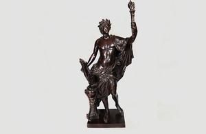 17th-century bronze figure of Apollo