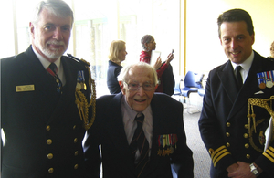 Naval Attache, Cdre Eric Fraser, Lt Peter Andrews, and Assistant Naval Attache, Cdr Ian Atkins