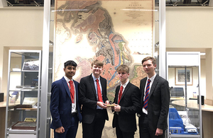 Picture of the winning team from Loughborough Grammar School.