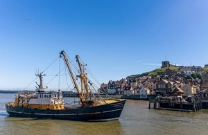 Whitby harbour fishing boat