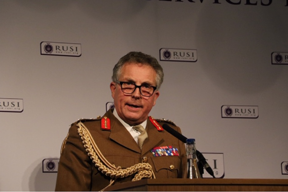 Chief of the Defence Staff, General Sir Nick Carter, speaking at RUSI